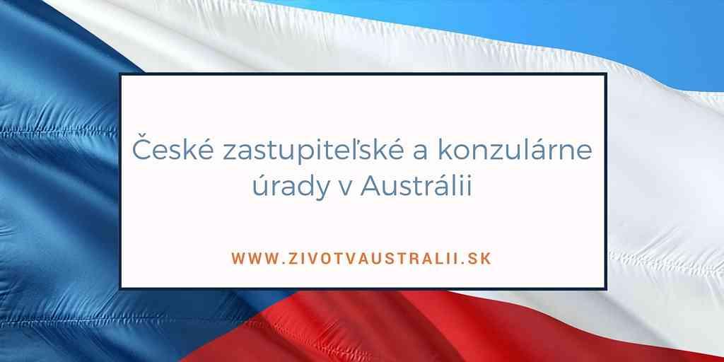 České zastupiteľské a konzulárne úrady v Austrálii-2018